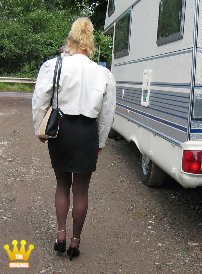 Zofe Ewunia Vist in a Mobile Home [4445] : Ewunia visited a member today in pumps and nylons in his motorhome. Soon as she came in, she must take off all clothes and sit naked in front of Peter´s fucking machine to be used. He then also extensively tried out his machine at the Polish´s cunt.